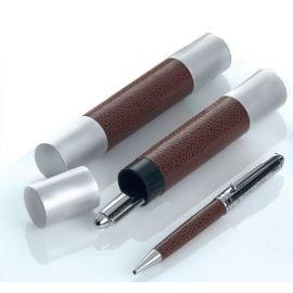 Bolígrafo piel/metal