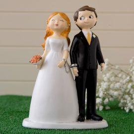 Figura tarta de novios esposados