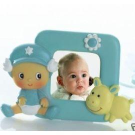 Portafotos bebé niño gorro.