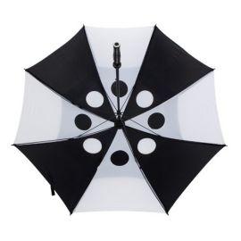 Paraguas pongee sistema antiviento.
