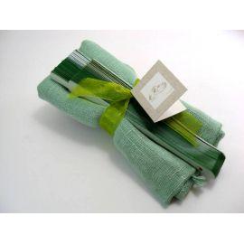 Montaje foulard y abanico