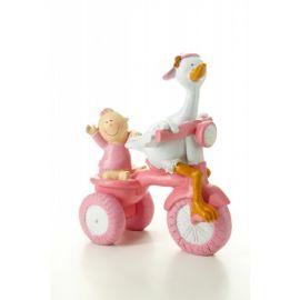 Figura Cigüeña Triciclo