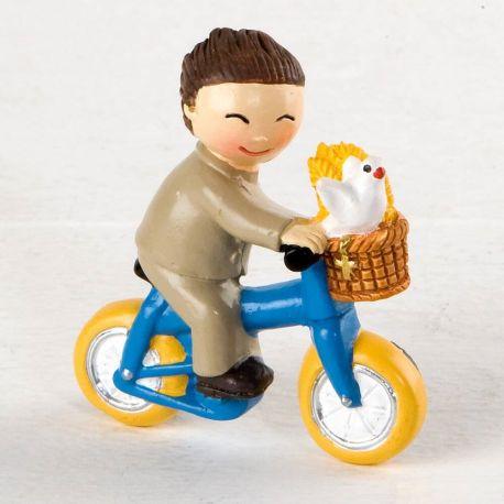 Imán niña comunión bici