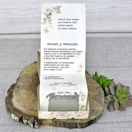 Invitación boda maleta
