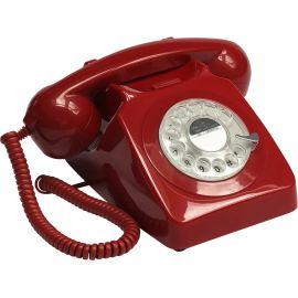 Teléfono vintage rojo