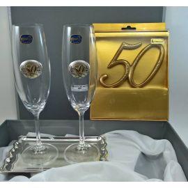 Copas 50º Aniversario c/ bandeja y decoracion tarta