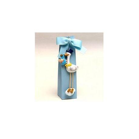 Imán cigüeña Pit y Pita en caja con peladillas