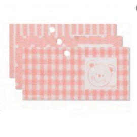 Tarjeta librito oso rosa