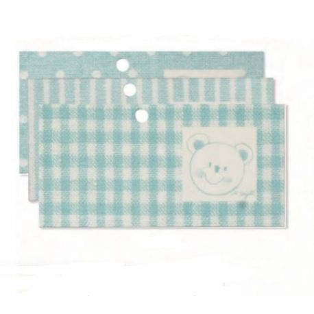 Tarjeta librito oso azul