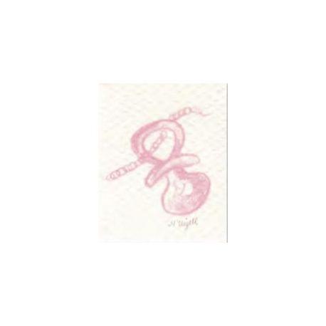 Tarjeta librito chupete rosa
