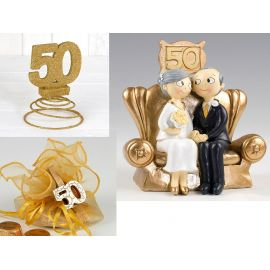 Figura novios 50 aniversario + PACK ANIVERSARIO 50