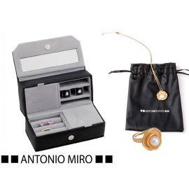 Juego  joyero,  anillo y collar flor/perla  ANTONIO MIRO
