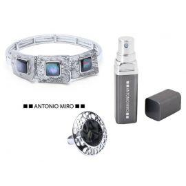"""Conjunto de pulsera  y anillo  """"Dusma"""" y vaporizador de regalo  ANTONIO MIRO"""