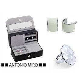 Juego  joyero, pendientes y anillo  ANTONIO MIRO