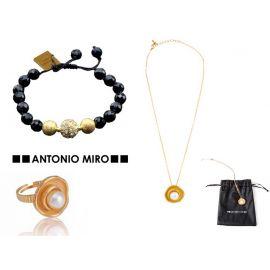 """Juego pulsera, anillo y collar """"Centrel"""" ANTONIO MIRO"""