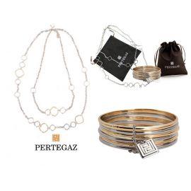 """Conjunto de collar y pulsera  """"Cercles""""  PERTEGAZ"""