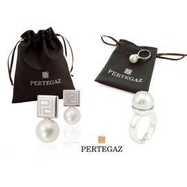 """Conjunto de pendientes y anillo ajustable  """"Guxtex""""  PERTEGAZ"""