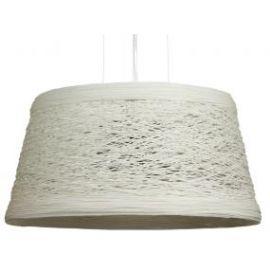 """Lámpara de techo blanca grande """"Rattan"""""""