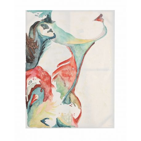"""Cuadro oleo sobre lienzo pintado en acrílico """"Girl Face"""""""