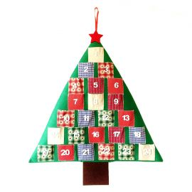 "Calendario de Adviento patchwork ""Arbol"""