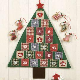 "Calendario de Adviento patchwork ""Arbol"""