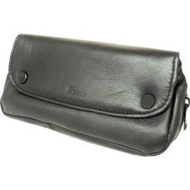 Bolsa para pipa y accesorios en piel Peterson, color negro