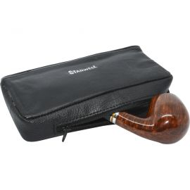 Bolsa para pipa, picadura y accesorios en piel Stanwell, color negro
