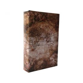 """Caja fuerte libro con llave """"Globus"""""""