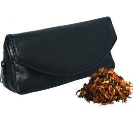Bolsa para pipa y accesorios en piel - Color negro