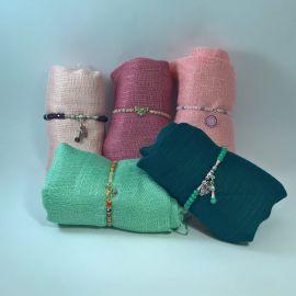 Conjunto foulard y pulsera cristal