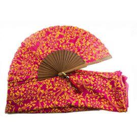 Abanico estampado *Batik* con pashmina a juego