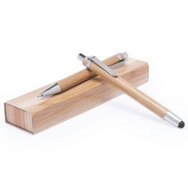 Juego de bolígrafo y portaminas madera bambú