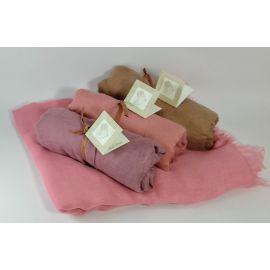 Pack 12 foulards *Romantic* con Tarjeta/Libro Personalizada y Cinta en Rafia Papel - Regalo Ideal para Eventos