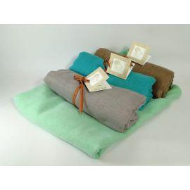 Pack 12 foulards *Oceanic* con Tarjeta/Libro Personalizada y Cinta en Rafia Papel - Regalo Ideal para Eventos