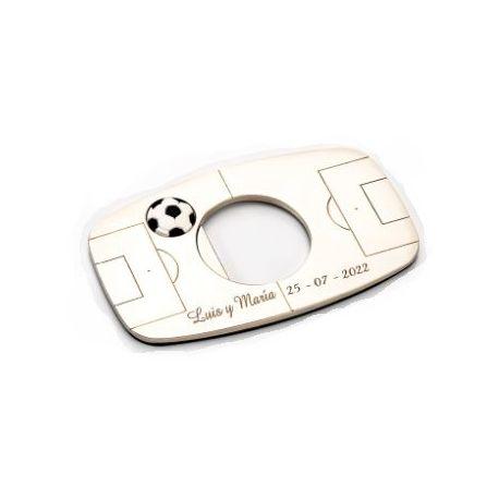 Abrebotellas imantado *Campo de fútbol* con Caja de Regalo