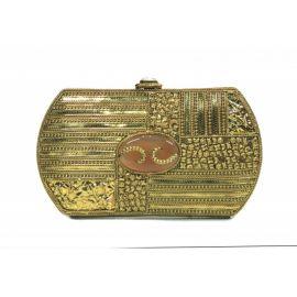 Bolso latón dorado con piedra - Handmade India - Colección Joya