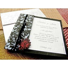 Invitación negro/plata