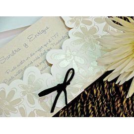 Invitación funda flores