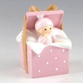 Hucha bebé regalo rosa