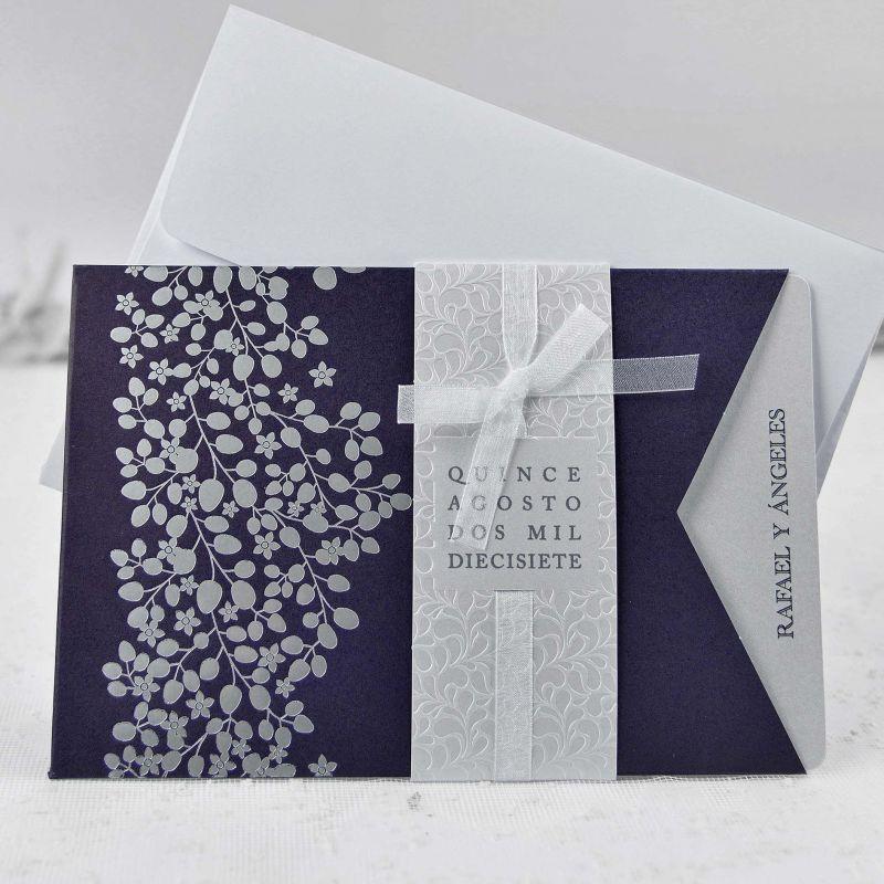 invitaci u00f3n de boda sencilla y elegante