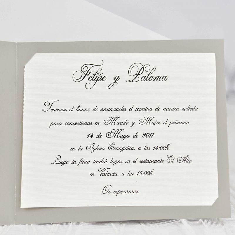 Invitacion De Boda Sencilla Y Elegante